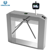 China AI Facial Recognition IP54 RS485 SS304 Flap Barrier Turnstile