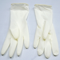 China White Disposable Exam Latex Glove Powder Free For Medical Use Smooth And