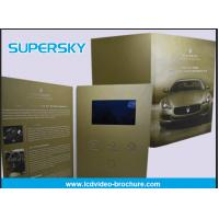 China Rechargeable LCD Video Brochure , Video In Print Brochure For Advertising