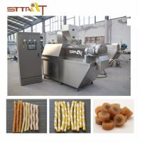 China SS Single Screw Food Extruder , Automatic Pet Food Processing Machinery