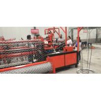 China 2m-4m width full automatic double wire feeding chain link fence making machine