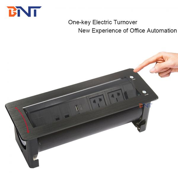 Popular office furniture motorized flip up tabletop power outlet for conference table