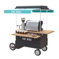 China Box Structure 1.2M Stainless Steel Coffee Vending Cart