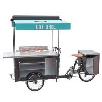 China New Design Stainless steel box BBQ cart barbecue grill outdoor food bike