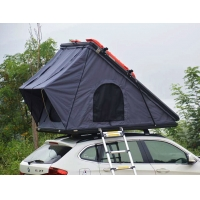 China Family Camping SUV Hard Shell 125cm 4x4 Roof Top Tent with Telescopic Ladder