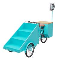 China Easy Operating Scooter Vending Cart With Folding Worktable CE Certification