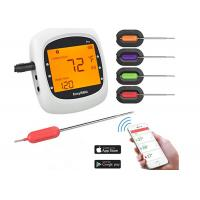 China Large LCD Wireless Bluetooth Food Thermometer , Wifi Cooking Thermometer For