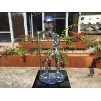 China Stainless Steel Metal Figure Sculpture Mirror Polished For Home Decoration