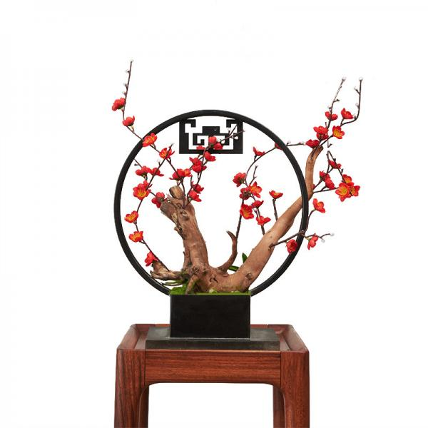 China Chinese Style Artificial Potted Floor Plants Home Office Decor