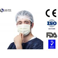 China 3 Ply Blu Medical Face Mask Prevent Dust Blue White For Cough Germs Illness