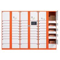 China Intelligent Automated Parcel Lockers , Ads Screen Smart Package Lockers