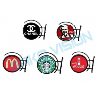 Quality High Brightness Round Circle Outdoor LED Logo Sign For Retail Shop for sale