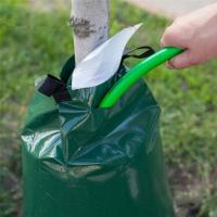 China 500D PVC UV Resistant Tree Watering Bags With Heavy Duty Zipper
