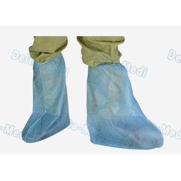 China PP Polypropylene Disposable Shoe Covers Anti Dust Above Ankle To Knee