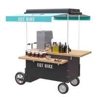 China Wood Box Structure 48V 4500w Tricycle Vending Cart