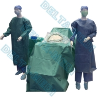 China Absorbent Reinforced 40g - 60g SP / SMS / SMMS / SMMMS C-section surgical pack