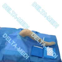 China Blue PP PE Disposable Surgical Packs Around Aperture With SMF