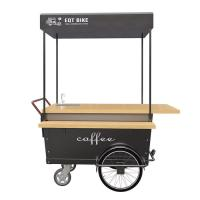 China Manual Control 25° Climbing Breakfast Food Cart For Coffee Vending 1 Year