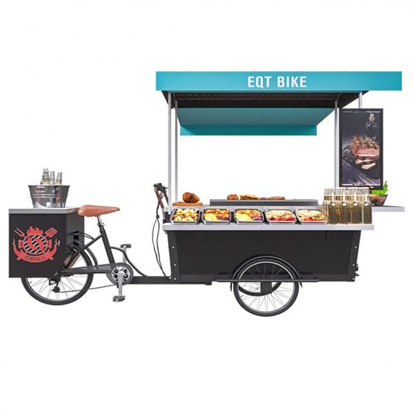 China Customized Street Mobile 350W 11.3rpm BBQ Food Cart