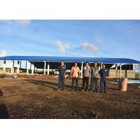 China Heavy Duty Designed Anti Cyclone arch roof Steel Structure Workshop and