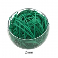 China Straight Green Shredded Paper Basket Filler For Wedding / Party / Holidays