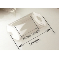 China Plastic Clear Pillow Box Gift Packaging Box Favor Box with hanger