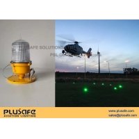 China Temporary Use Portable Heliport Lighting Yellow Color LED 30cd For Police