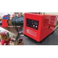 Quality 30m Leads ARC 450A DC Diesel Welding Generator FCAW TIG Inverter Engine Powered for sale