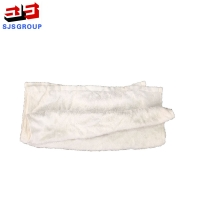 China Recycled Strong Absorbency White T-shirt Knitting Industrial Cleaning Rags