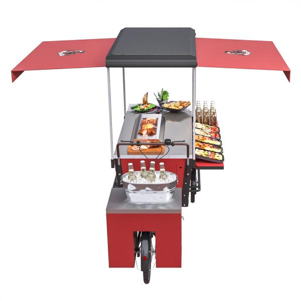Quality Fried Hot Dog BBQ Leisure Vending Grill Food Cart for sale