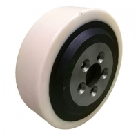 China drive wheel for electric pallet truck PU on steel casters 200mm