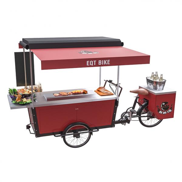 Quality 3 Wheel Mobile Bar Beer Reserve Trike Barbecue Vending Cart for sale