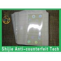 China No bubbles FL hologram overlay PET favorable price Safety shipping