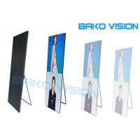 China LED Poster Screen Floor Standing Signage Movable Advertising Panel Digital