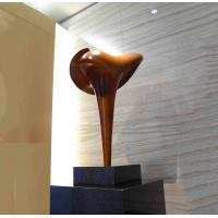 China Surface Painted Tall Indoor Statues Cast Bronze Abstract Copper Finishing