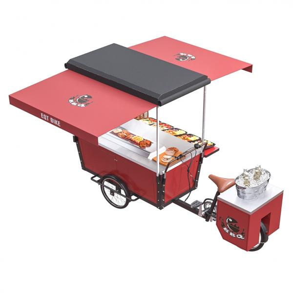 Quality Self Priming Outdoor 350W Drum Brake BBQ Food Bike for sale