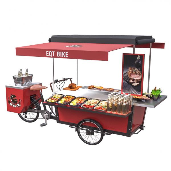 Quality European Style Fast Food Mobile Tricycle Food Grilling Cart for sale