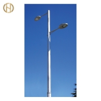 Quality 6 Meter Hot Dip Galvanized GR65 Street Light Pole for sale