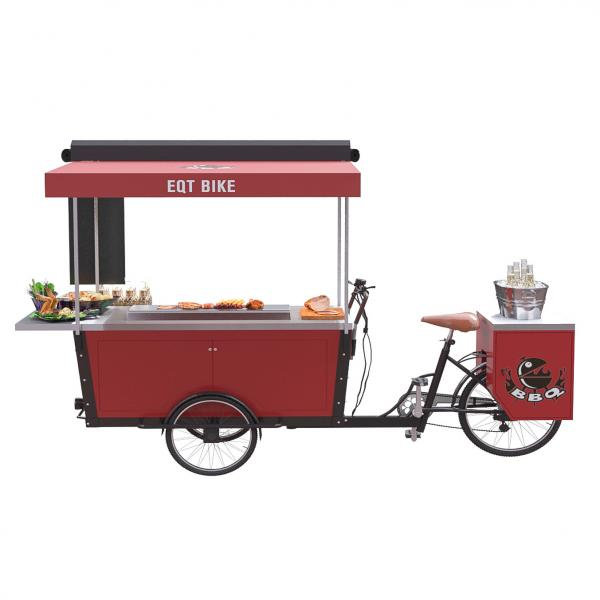 Quality Hot Dog Street Vending BBQ Electric Tricycle Food Cart for sale