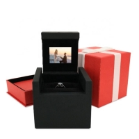 China HD 5inch Screen video box Necklace Gift Paper Led Small Customized Logo And Set