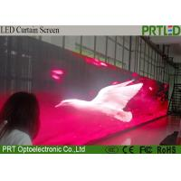 China Advertising P12.5 Indoor LED Flexible Curtain Screen With High Light Transmittan