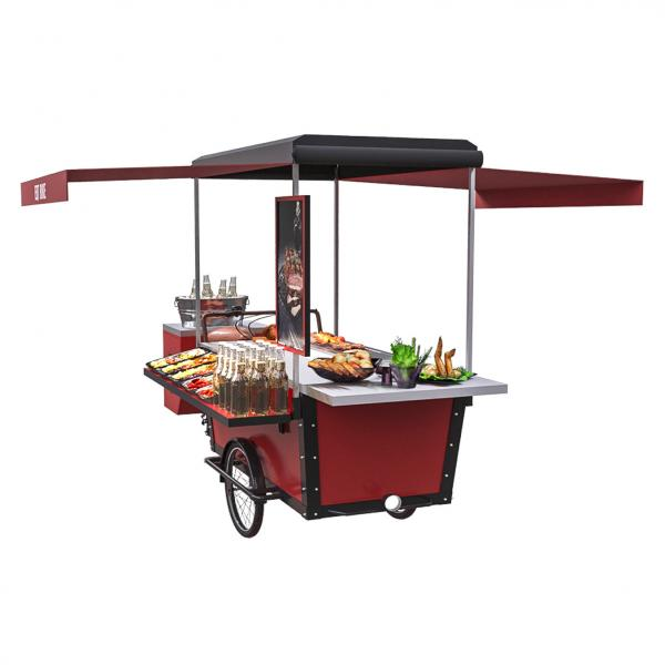 Quality 11.3RPM Mobile Three Wheel Street Hot Dog BBQ Food Bike for sale
