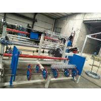 China 3m width Double wire Fully Automatic Diamond Mesh Chain Link Fence Machine