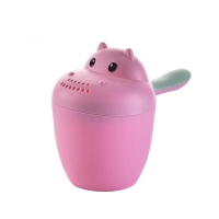 China Bottom Concave BPA Free Baby Bath Rinse Cup Safe Material