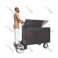 China Manual 23Km/H 500KG Stainless Steel Tricycle Cargo Bike