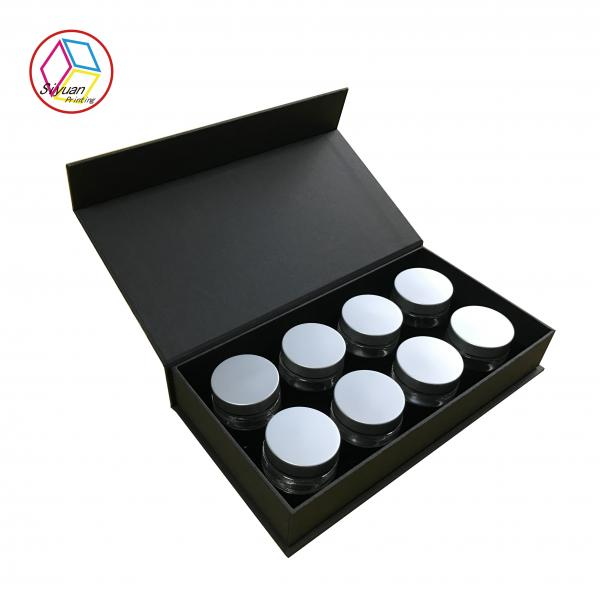 China Matte Lamination Clamshell Cosmetic Paper Box For Bottled Face Cream Package