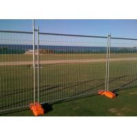 China 200g/M2 Zinc Coated W2.4m Temporary Steel Fencing For Construction Site Security