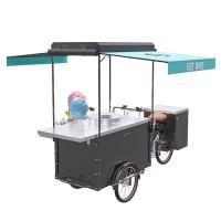 China Electric Trike Food Cart Long Using Life With 300KG Load Capacity