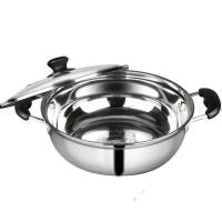 China Kitchen Pots And Pans With Glass Lid , Food Grade Stainless Steel Pots And Pans