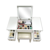 China Shipping from U.S. warehouse-Noble European Style White MDF Solid Wood Makeup